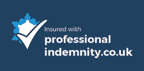 professionalindemnity.co.uk badge of quality blue