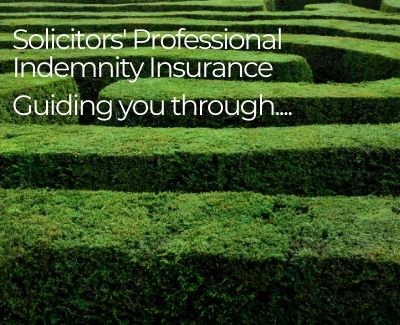a green maze with the words solicitors professional indemnity insurance