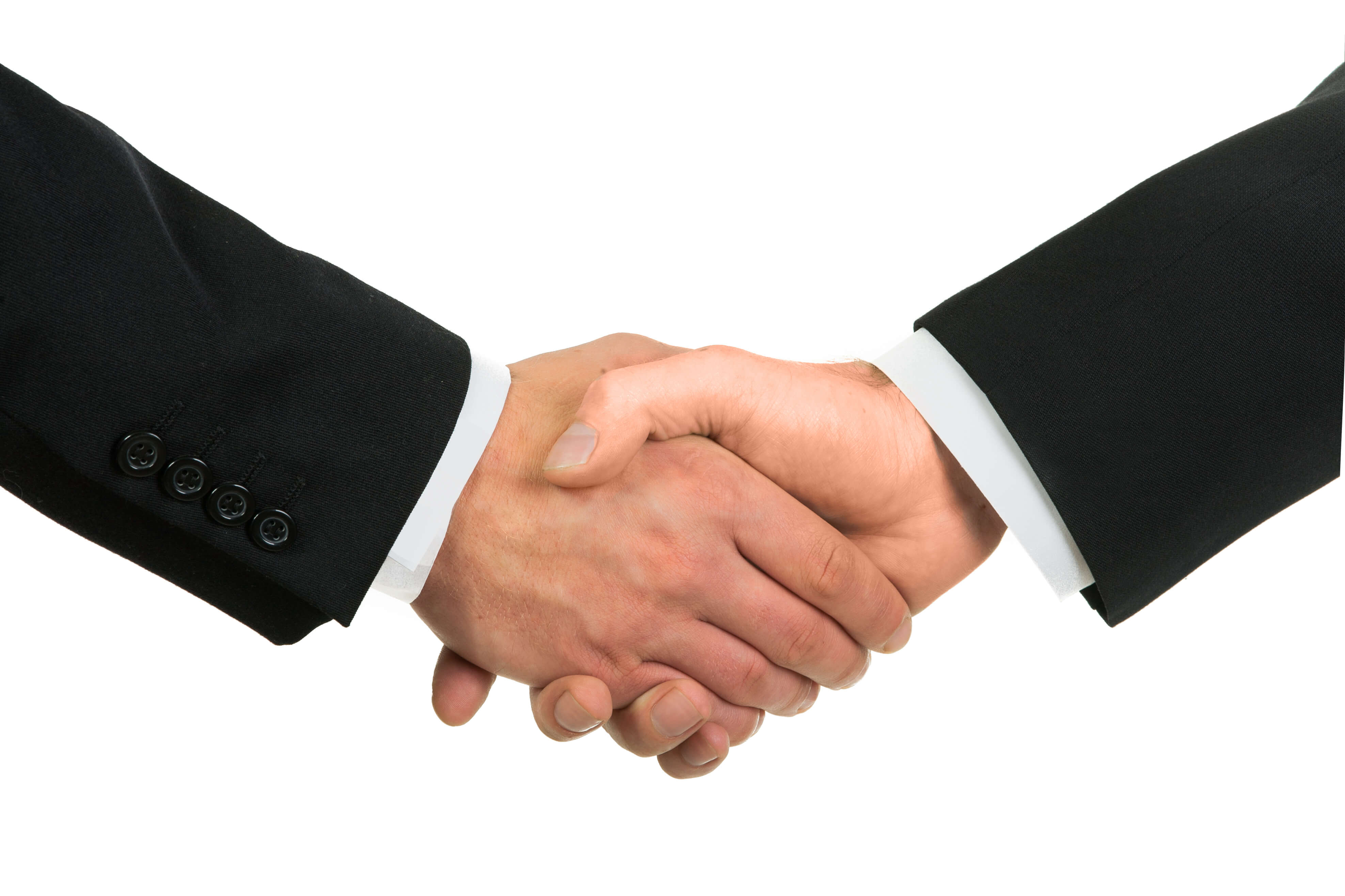 business handshake between a man and a woman